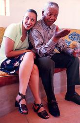 Nelson Mandela and granddaughter, Ms Rochelle Mtirara. Picture: Benny Gool.