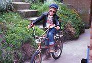 Rockabilly Neville, High Wycombe, UK. 1980s.