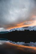 Price Lake at Sunset on the Blue Ridge Parkway