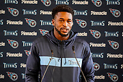 Tennessee Titans Kevin Byard FS (31) during the Tennessee Titans pre-match press conference at Syon House, Brentford, United Kingdom on 19 October 2018.