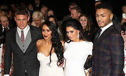 © Licensed to London News Pictures. 21/01/2015, UK. Scott Timlin, Marnie Simpson, Chloe November, Nathan Henry,, National Television Awards, The O2, London UK, 21 January 2015. Photo credit : Richard Goldschmidt/Piqtured/LNP