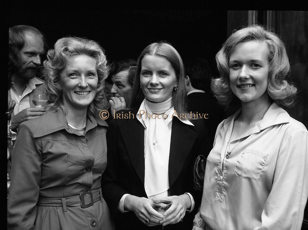 09/08/1979.08/09/1979.9th August 1979.Opening of Irish Patchwork exhibition and Presentation of the Young Designer Awards at Kilkenny Castle. Photographed at the opening, Mrs Angela O'Grady, Mrs Sheila Kelly and Mrs Mary O'Donovan.