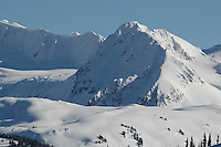 Fissile Mountain, near Whistler, BC on a sunny winter's day.