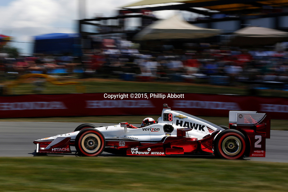 31 July - 2 August, 2015, Lexington, Ohio USA<br /> Juan Pablo Montoya<br /> &copy;2015, Phillip Abbott<br /> LAT Photo USA