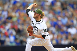 May 29, 2017 - San Diego, CA, USA - San Diego Padres' Brandon Maurer pitches the ninth inning in a 5-2 win against the Chicago Cubs on Monday, May 29, 2017 at Petco Park in San Diego, Calif. (Credit Image: © K.C. Alfred/TNS via ZUMA Wire)