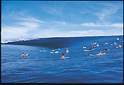 Amazing Teahupoo Tahiti Reef Draining<br /> <br /> Teahupoo, Tahiti. The reef pass known as Teahupoo is the site of some of the worlds most dangerous waves. The swell comes from deep in the southern Pacific Ocean and unloads on the shallow coral reef. This sequence known as 'Reef Draining' shows the wave sucking water off the reef almost as though someone has pulled out a plug. <br /> Photographer Peter Joli Captured this rare amazing event while photographing the Surfers Championship. <br /> ©Peter Joli/Exclusivepix