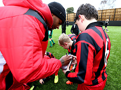 Mark Little of Bristol City signs autographs for children at The BCCT EFL Kids Cup - Mandatory by-line: Robbie Stephenson/JMP - 23/11/2016 - FOOTBALL - South Bristol Sports Centre - Bristol, England - BCCT EFL Kids Cup