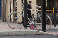 Ghost bike, London.  These appear when cyclists have been killed in road accidents