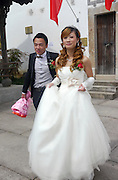 Chinese Couple at their wedding Photographed in Hangzhou, China