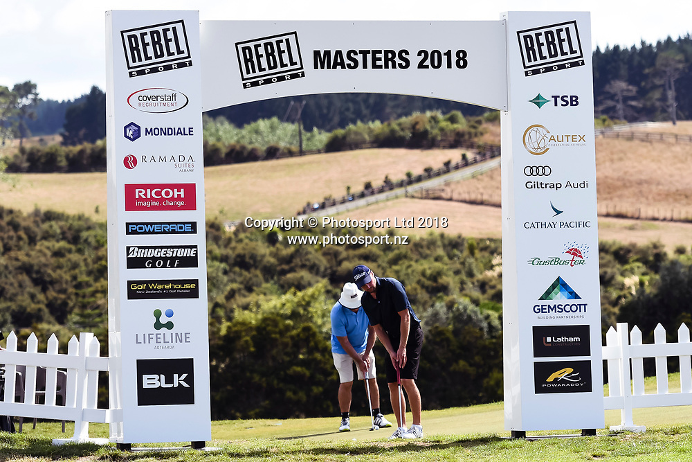 Signage.<br /> NZ Rebel Sports Masters, Wainui Golf Club, Wainui, Auckland, New Zealand. 14 January 2018. &copy; Copyright Image: Marc Shannon / www.photosport.nz.