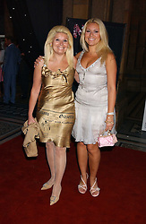 Left to right, RIKI BLOOM and her daughter BEVERLEY BLOOM at the opening party for Diamonds - a new exhibition at The Natural History Museum, London in association with De Beers held on 6th July 2005.<br />
