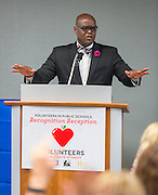 Lawrence Allen comments during Volunteers in Public Schools recognition ceremony, May 14, 2015.