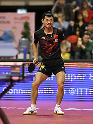 31.01.2016, Max Schmeling Halle, Berlin, GER, German Open 2016, im Bild Jike Zhang (CHN) ist frustriert // during the table Tennis 2016 German Open at the Max Schmeling Halle in Berlin, Germany on 2016/01/31. EXPA Pictures © 2016, PhotoCredit: EXPA/ Eibner-Pressefoto/ Wuest<br /> <br /> *****ATTENTION - OUT of GER*****