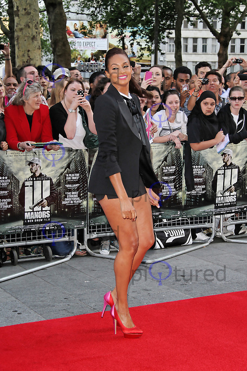LONDON - MAY 30: Alesha Dixon attends the World Film Premiere of 'Ill Manors' at the Empire Cinema, Leicester Square, London, UK. May 30, 2012. (Photo by Richard Goldschmidt)