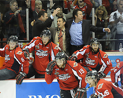 The Windsor Spitfires defeated the Brandon Wheat Kings in the championship game at the 2010 MasterCard Memorial Cup in Brandon, MB on Sunday May 23. Photo by Aaron Bell/CHL Images