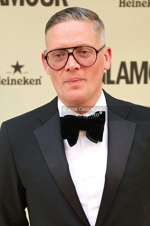 Giles Deacon attends Glamour magazine 10th Anniversary party at Italian Embassy in Madrid, Spain