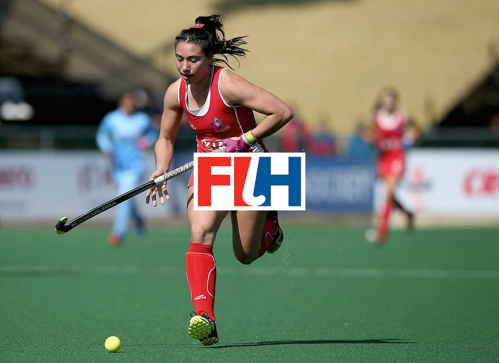 JOHANNESBURG, SOUTH AFRICA - JULY 12: Denise Krimerman of Chile in action during day 3 of the FIH Hockey World League Semi Finals Pool B match between India and Chile at Wits University on July 12, 2017 in Johannesburg, South Africa. (Photo by Jan Kruger/Getty Images for FIH)
