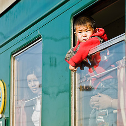 People travelling from Mongolia to Moscow by the Transiberian train Asia