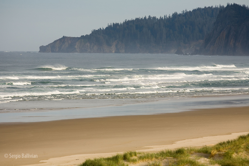 Beach and coastline on the Pacific Ocean near Florence, Oregon