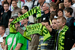 Slovenian fans before friendly football match between National teams of Slovenia and Belgium, on August 10, 2011, in SRC Stozice, Ljubljana, Slovenia. (Photo by Matic Klansek Velej / Sportida)