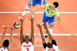 Alen Sket of Slovenia during volleyball match between Venezuela and Slovenia in FIVB World League 2016 - Group 3 on June 19, 2016 in Stozice, Ljubljana, Slovenia. Photo by Morgan Kristan / Sportida