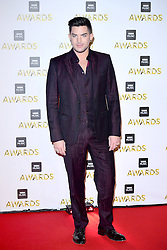 Adam Lambert attending the BBC Music Awards at the Royal Victoria Dock, London.