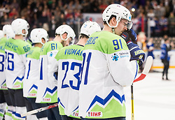 Miha Verlic of Slovenia after the 2017 IIHF Men's World Championship group B Ice hockey match between National Teams of France and Slovenia, on May 15, 2017 in AccorHotels Arena in Paris, France. Photo by Vid Ponikvar / Sportida