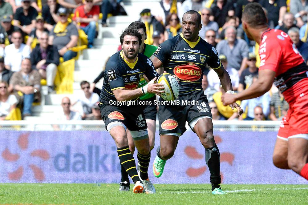 Fabien FORTASSIN - 25.04.2015 - La Rochelle / Toulon - 23eme journee de Top 14<br />Photo : Caroline Blumberg / Icon Sport