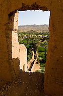 Morocco, marrakech. Tamnoulgat village with clay houses  near Ouarzazate   - Moroco   ///  Tamnoulgat village en pise  a la sortie de Ouarzazate,   - Maroc