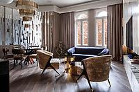 Интерьерная фотосъемка частных апартаментов в г. Будапешт. <br /> Дизайн интерьера: DASH Studio, Украина.
