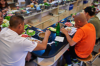 Beijing , China - September 24, 2014: people eating Chinese Hot pot in a restaurant in Beijing China