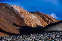 At 14,000 feet along the Pangong Lake Road, near the border with Tibet (China) in Ladakh, Jammu and Kashmir State, India.