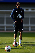 Djibril Sidibe during the training of the team of France before the FIFA World Cup qualifying football match between Bulgaria and France, on October 2, 2017 in Clairfontaine, France - Photo Benjamin Cremel / ProSportsImages / DPPI