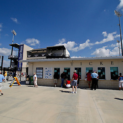 February 26, 2011; Port Charlotte, FL, USA; A general view as fans walk up to the ticket window outside prior to a spring training exhibition game between the Pittsburgh Pirates and the Tampa Bay Rays at Charlotte Sports Park.  Mandatory Credit: Derick E. Hingle