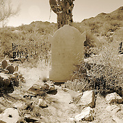 Grave at the pioneer cemetery in Old Congress, AZ