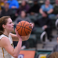 3rd year forward Christina McCusker (12) of the Regina Cougars in action during the home game on January  27 at Centre for Kinesiology, Health and Sport. Credit: Arthur Ward/Arthur Images