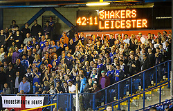 Leicester City fans enjoy the match - Mandatory byline: Matt McNulty/JMP - 07966386802 - 25/08/2015 - FOOTBALL - Gigg Lane -Bury,England - Bury v Leicester City - Capital One Cup - Second Round