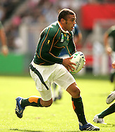 Paris, FRANCE - 9th September 2007, Bryan Habana during the Rugby World Cup, pool A, match between South Africa and Samoa held at Parc Des Princes Stadium in Paris, France...Photo by RG/Sportzpics.net