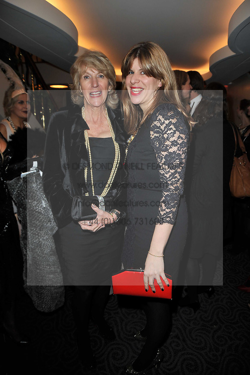 Left to right, ANNABEL ELLIOT and her daughter KATE ELLIOT at Quintessentially's 10th birthday party held at The Savoy Hotel, London on 13th December 2010.