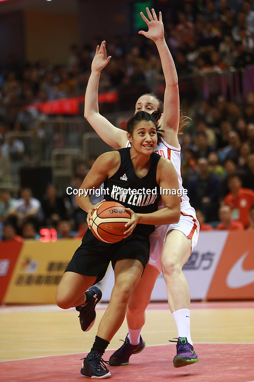 New Zealand Tall Ferns v Montenegro. Four Nations Basketball Tournament in China.<br /> 15 May 2016.<br /> Photo: CSPA
