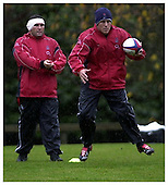 England Training Session. 4-11-2002. Season 2002-2003