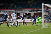 14th September 2019; Dens Park, Dundee, Scotland; Scottish Championship, Dundee Football Club versus Alloa Athletic; Jordan McGhee of Dundee scores for 2-1 in the 38th minute