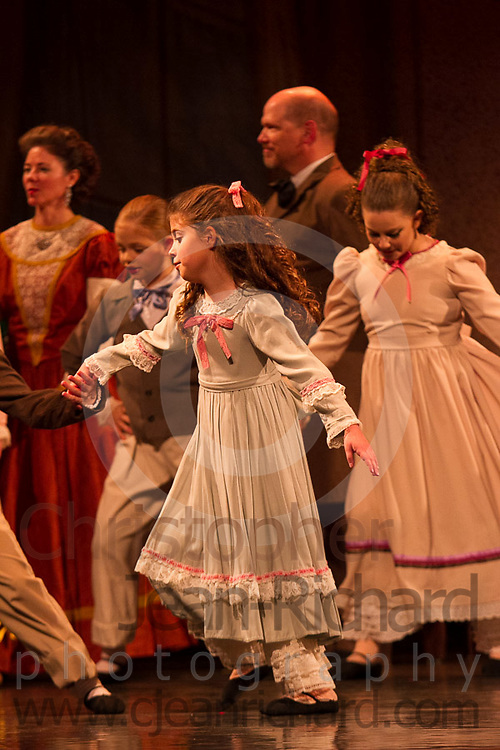 Students of the Payne Academy of Performing Arts on stage in the Dress Rehearsal of The Nutcracker.<br /> <br /> November 2014<br /> The Woodlands College Park High School.<br /> The Woodlands, Texas