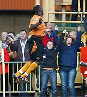 Photo: Steve Bond/Richard Lane Photography. Wolverhampton Wanderers v Aston Villa. Barclays Premiership 2009/10. 24/10/2009. Sylvan Ebanks-Blake in front of the home fans