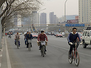 Beijing China commuters on there way to work