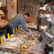 Street side fish market, Chinatown, New York City