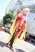 The championship day on the 10th anniversary of the World Cosplay Summit. A Singaporean cosplayer dressed as Inori Yuzuriha.