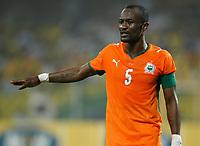 Photo: Steve Bond/Richard Lane Photography.<br />Ivory Coast v Mali. Africa Cup of Nations. 29/01/2008. Didier Zakora of Ivory Coast & Spurs directs