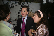 Julia Hobsbaun, George Osborne and Kimberley Quinn, BOOK PARTY FOR TABATHA'S CODE BY MATTHEW D'ANCONA. Spectator. Doughty St. London. 11 May 2006. ONE TIME USE ONLY - DO NOT ARCHIVE  © Copyright Photograph by Dafydd Jones 66 Stockwell Park Rd. London SW9 0DA Tel 020 7733 0108 www.dafjones.com