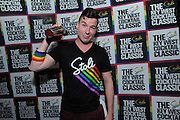 Mark Murphy, bartender for El Vez, celebrates winning The Stoli Key West Cocktail Classic New York Regional competition, Wednesday, Feb. 24, 2016, at Boxers HK in New York, and will go on to the 2016 Champion contests in Key West during Key West Pride 2016. (Diane Bondareff/Invision for Stoli Vodka/AP Images)